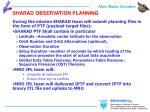 sharad observation planning