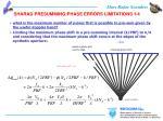 sharad presumming phase errors limitations 1 4