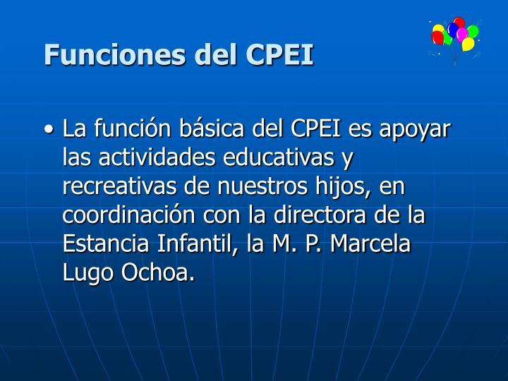 Funciones del CPEI