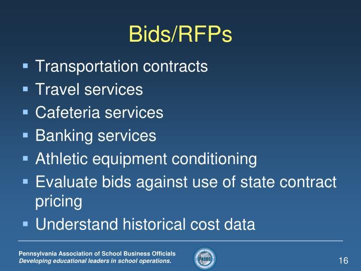 Bids/RFPs