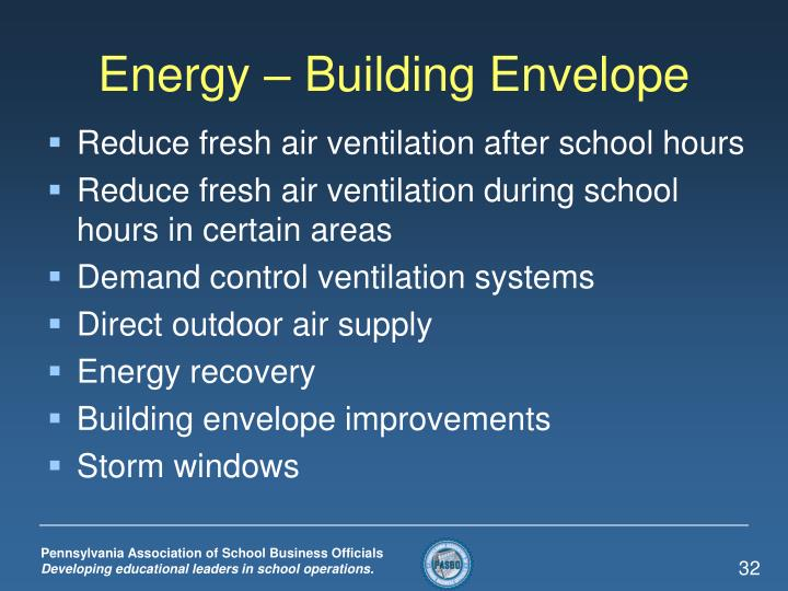 Energy – Building Envelope
