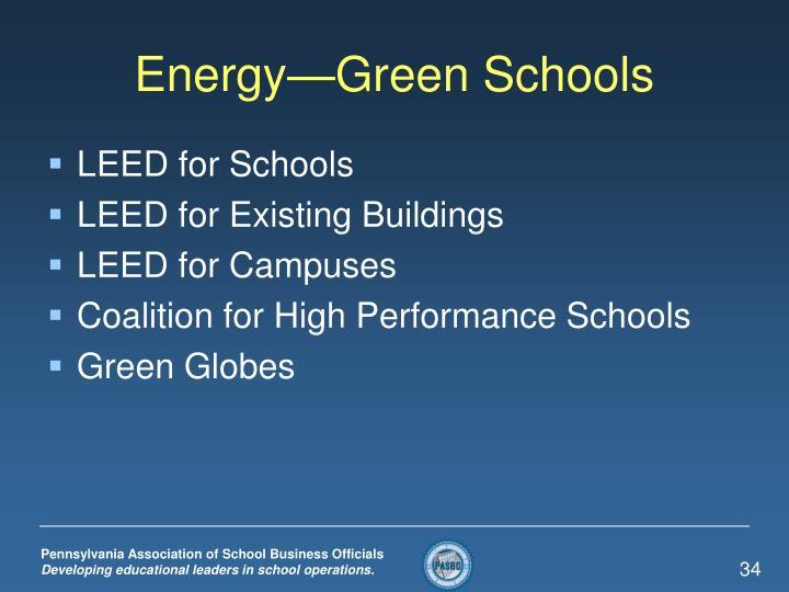 Energy—Green Schools