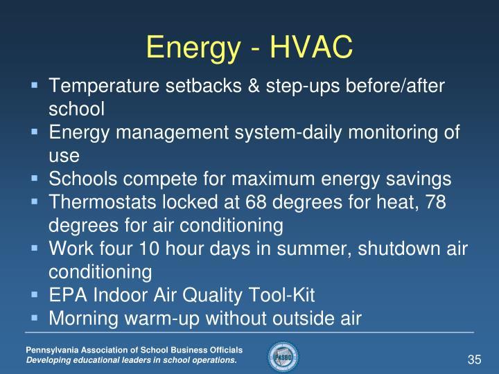 Energy - HVAC