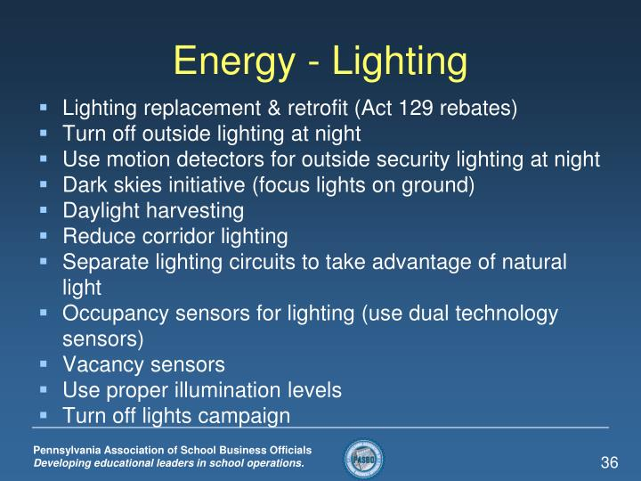 Energy - Lighting
