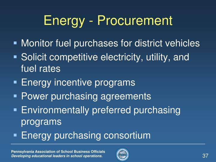 Energy - Procurement