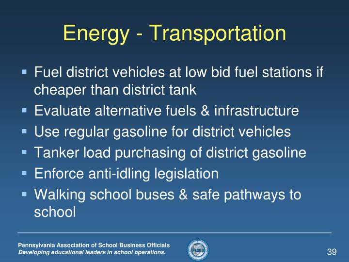 Energy - Transportation