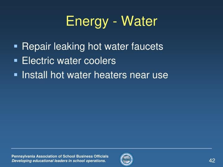 Energy - Water