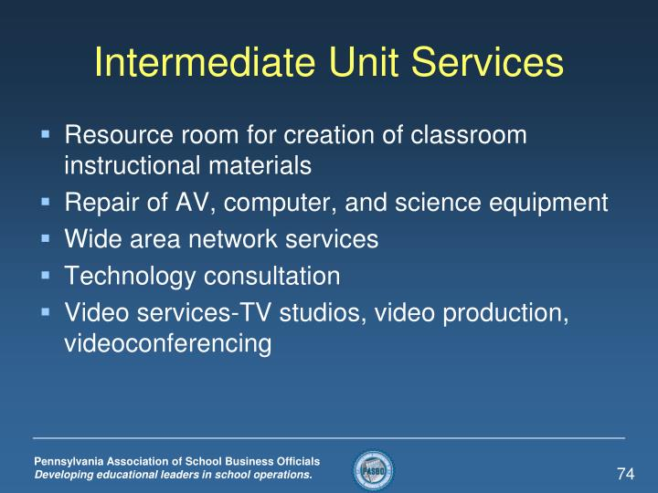 Intermediate Unit Services