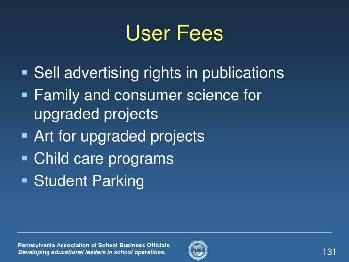 User Fees