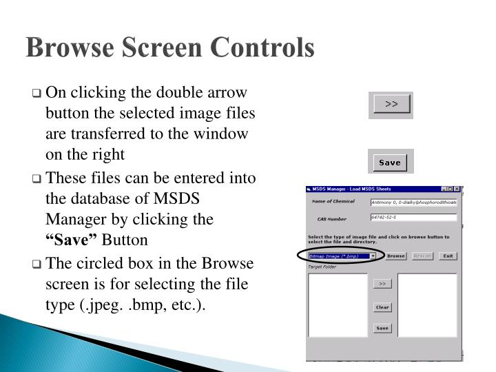 Browse Screen Controls