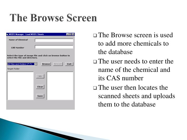 The Browse Screen