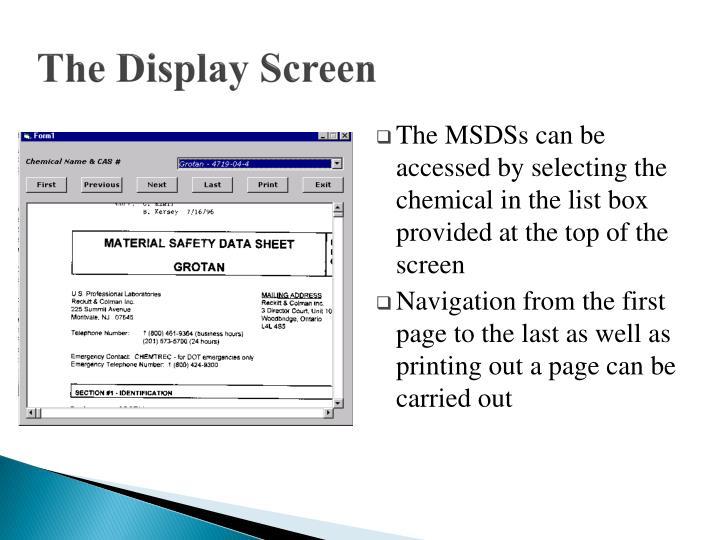 The Display Screen