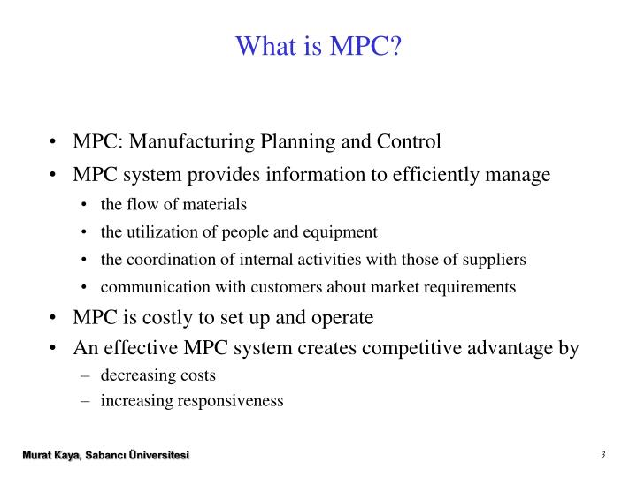 What is mpc