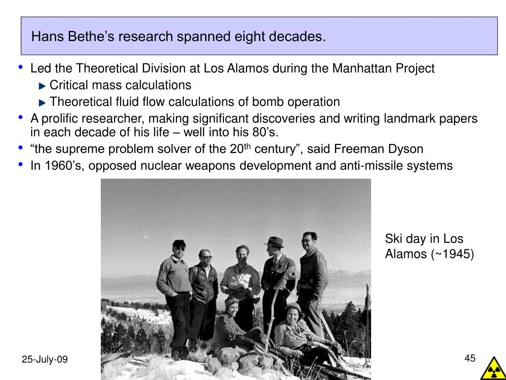 Hans Bethe's research spanned eight decades.