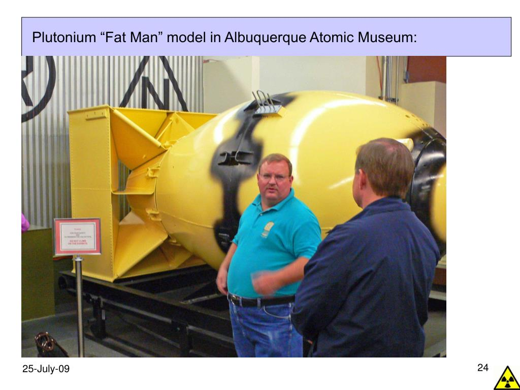 "Plutonium ""Fat Man"" model in Albuquerque Atomic Museum:"