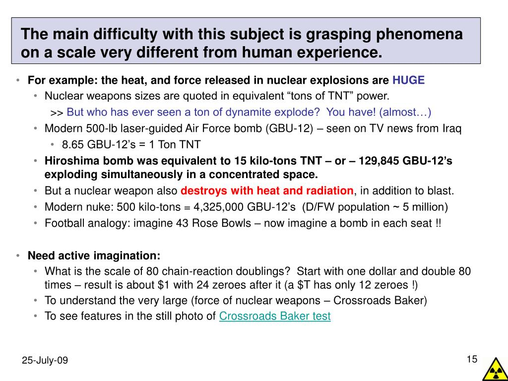 The main difficulty with this subject is grasping phenomena on a scale very different from human experience.