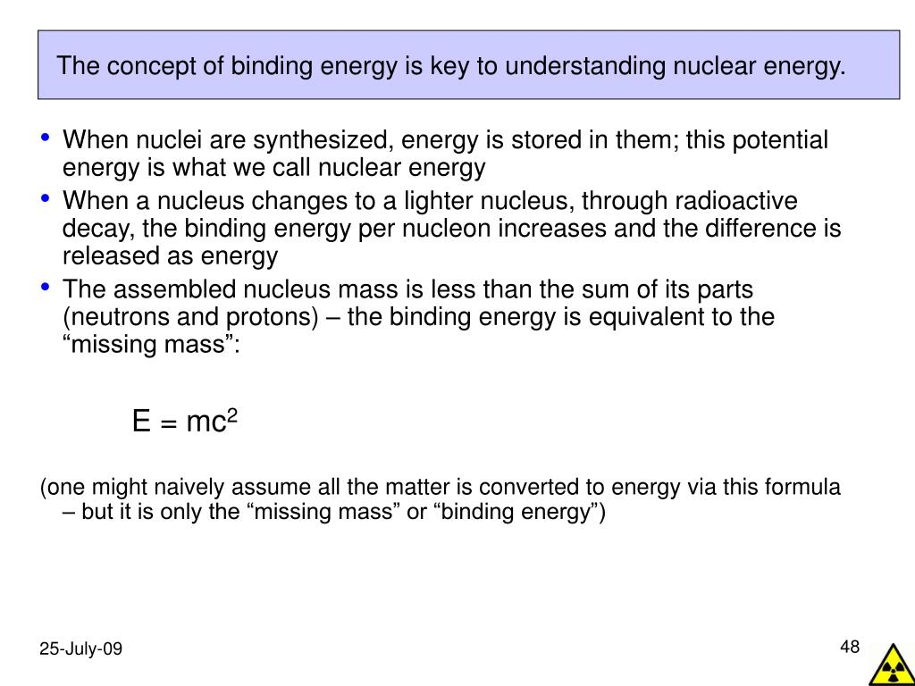 The concept of binding energy is key to understanding nuclear energy.