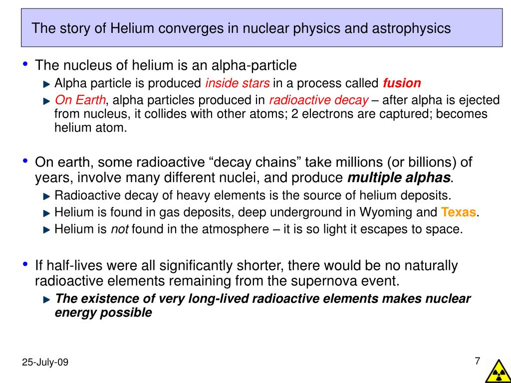 The story of Helium converges in nuclear physics and astrophysics
