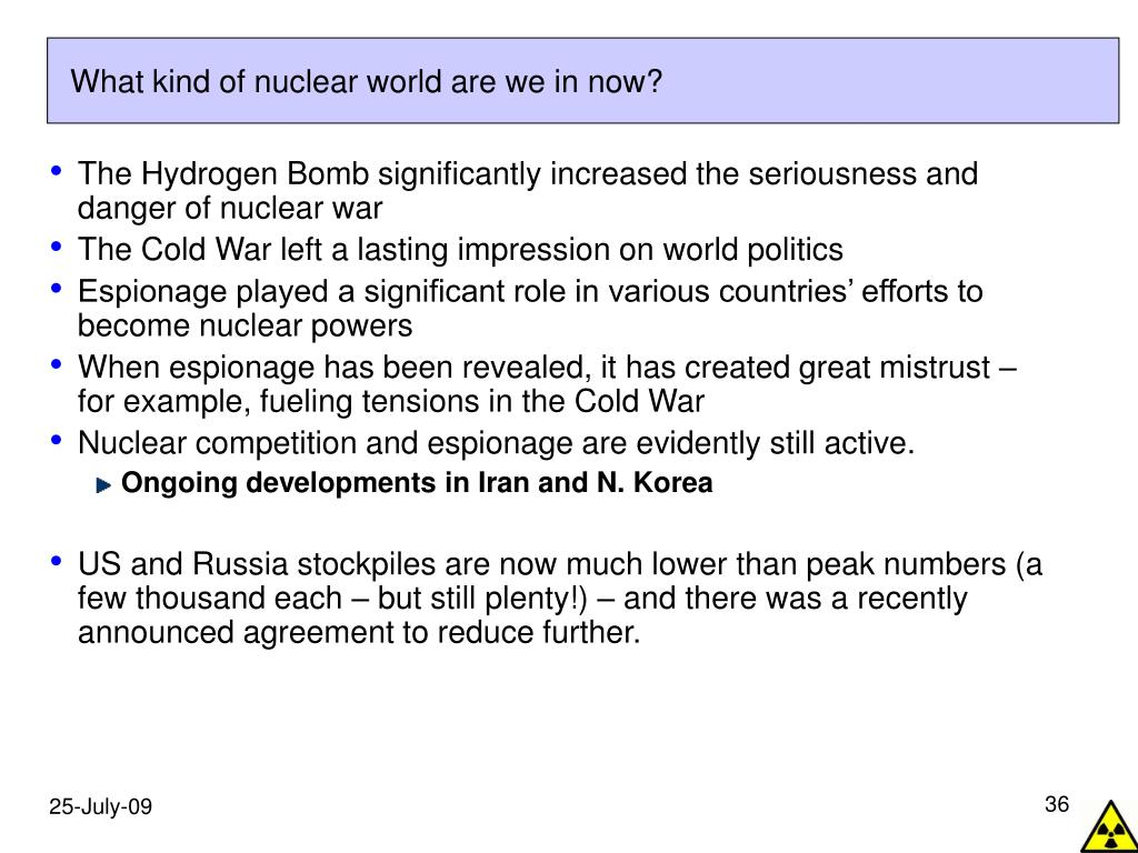 What kind of nuclear world are we in now?