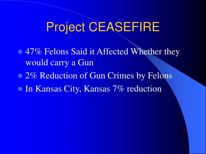 Project CEASEFIRE