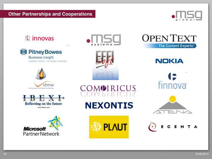Other Partnerships and Cooperations