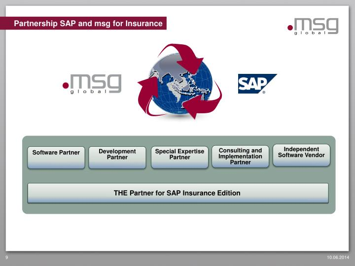 Partnership SAP and msg for Insurance