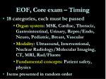 eof core exam timing1