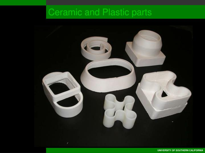 Ceramic and Plastic parts