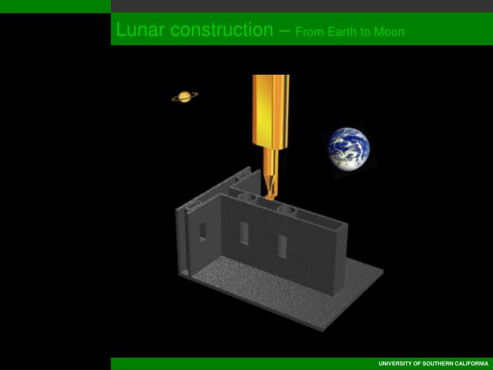 Lunar construction –