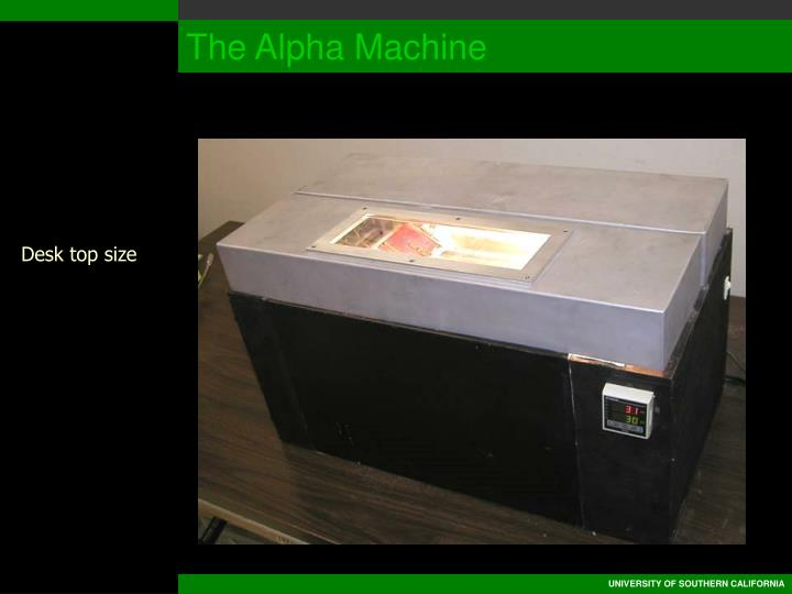 The Alpha Machine