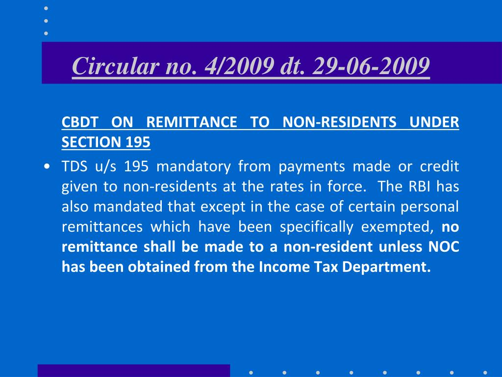 Circular no. 4/2009 dt. 29-06-2009