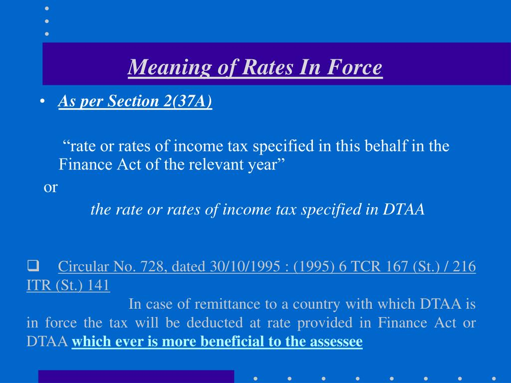 Meaning of Rates In Force