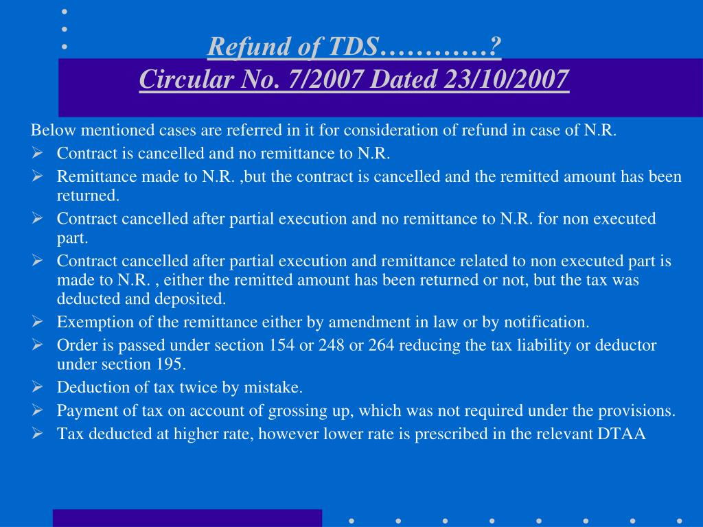 Refund of TDS…………?