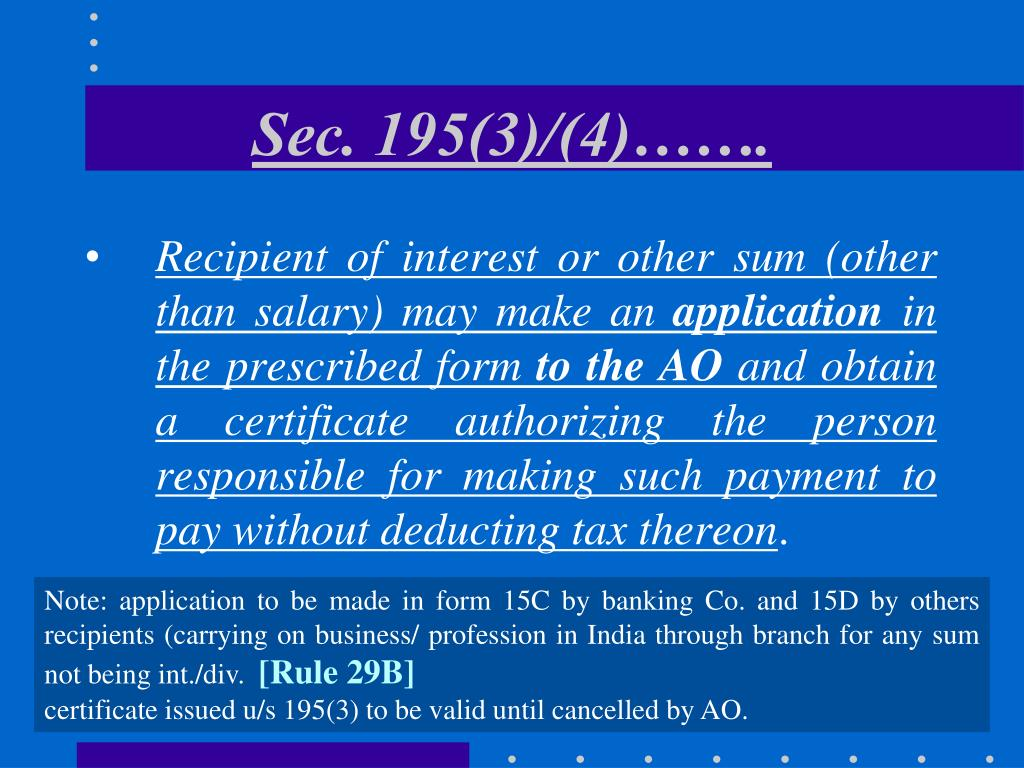 Sec. 195(3)/(4)…….