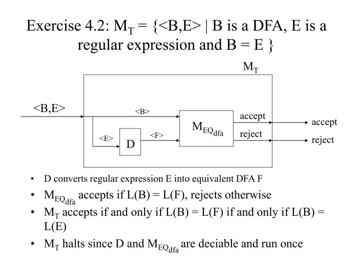 Exercise 4.2: M