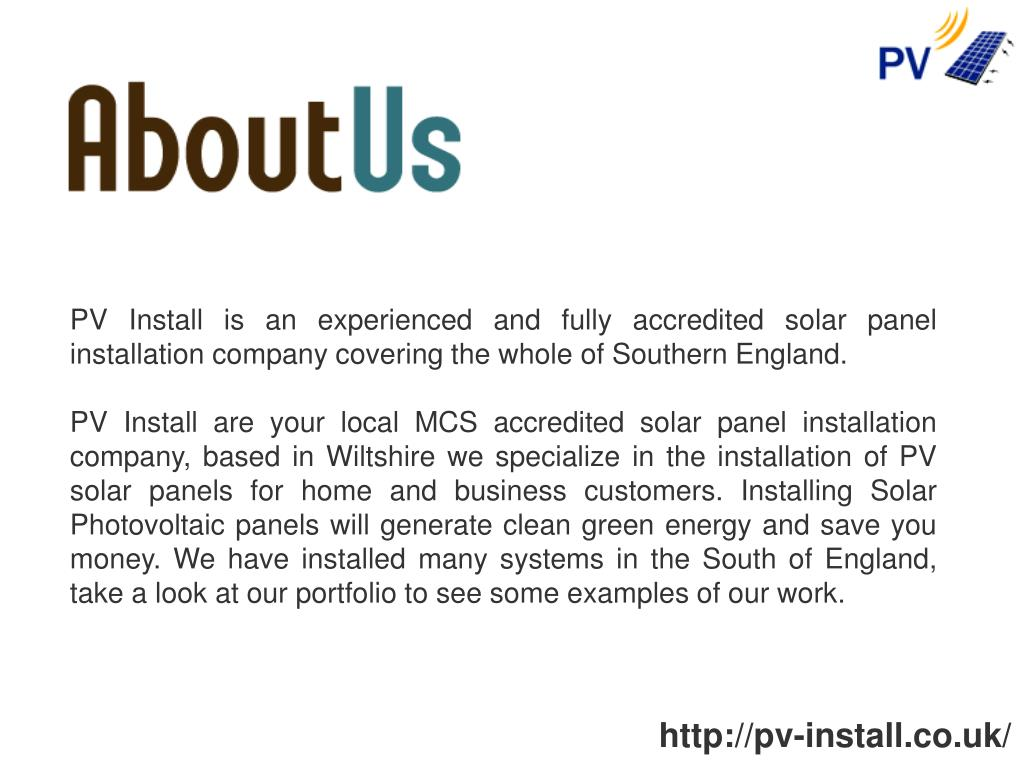 PV Install is an experienced and fully accredited solar panel installation company covering the whole of Southern England.