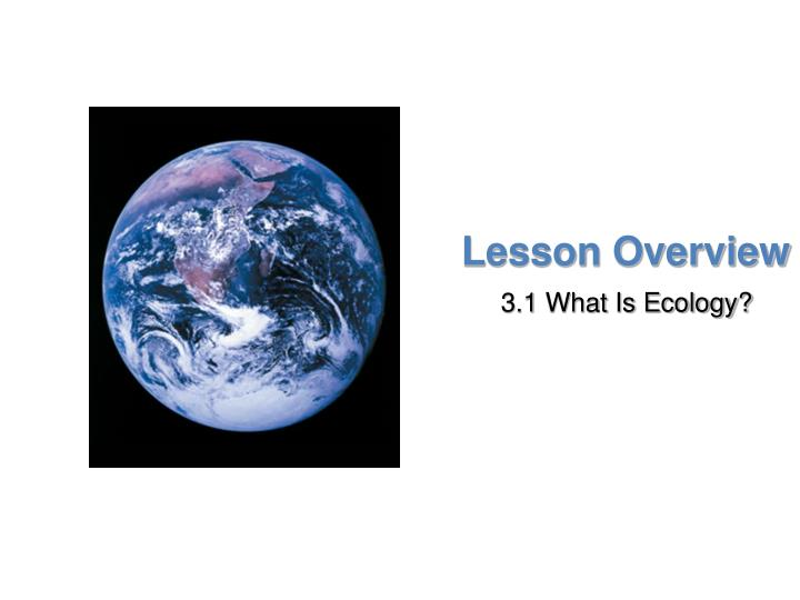 Lesson Overview