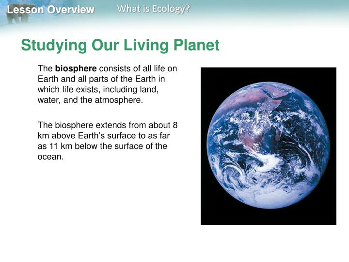 Studying our living planet