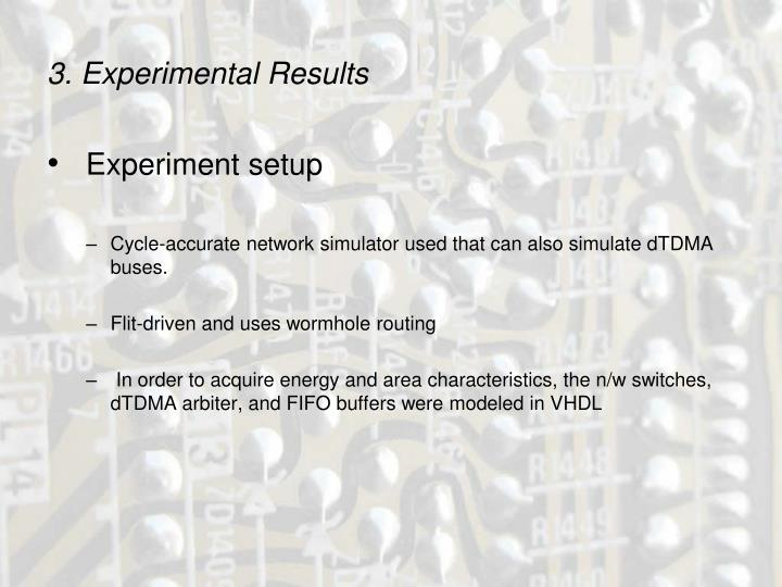 3. Experimental Results