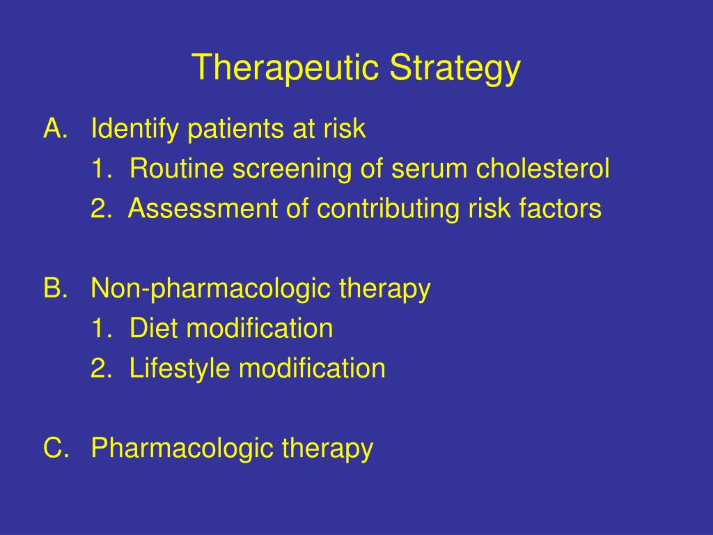Therapeutic Strategy