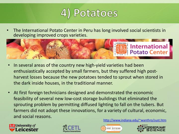 4) Potatoes