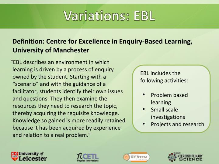 Variations: EBL