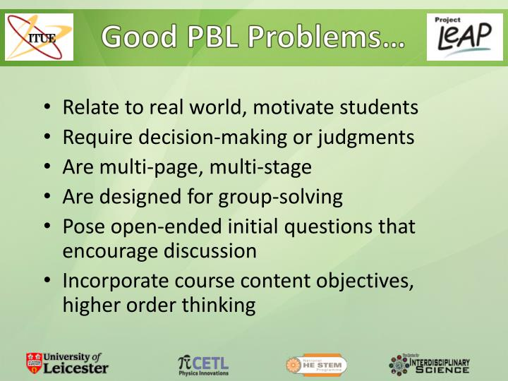 Good PBL Problems…
