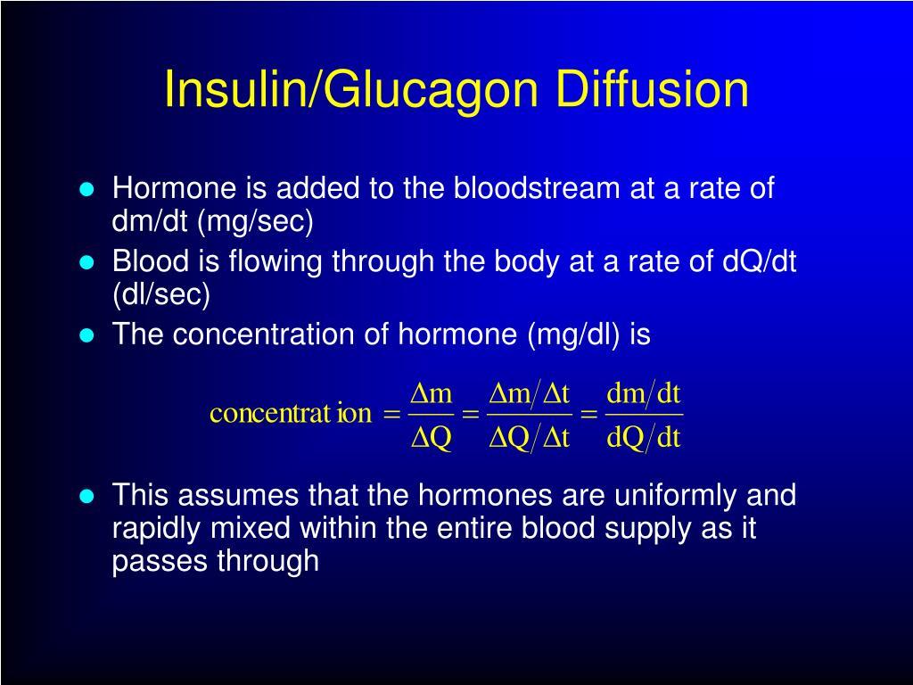 Insulin/Glucagon Diffusion