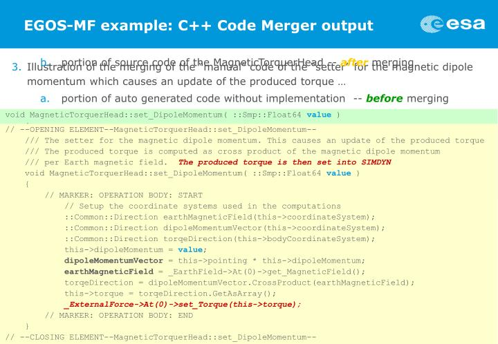 EGOS-MF example: C++ Code Merger output