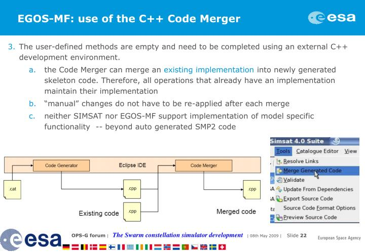 EGOS-MF: use of the C++ Code Merger