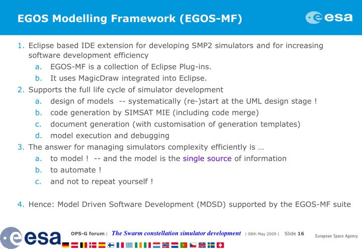 EGOS Modelling Framework (EGOS-MF)