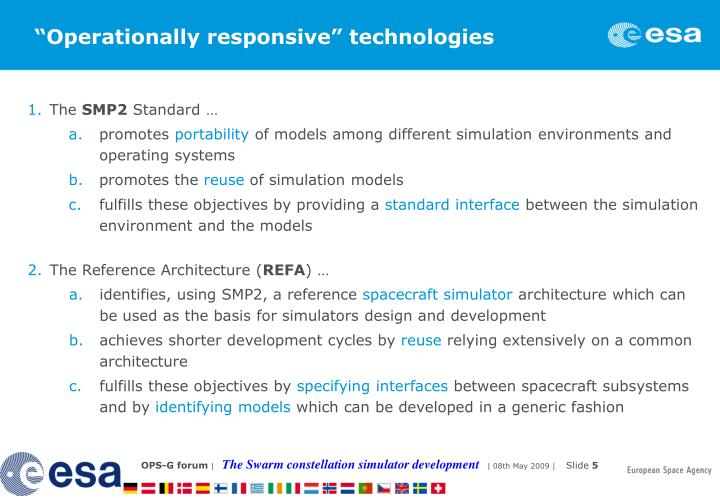 """Operationally responsive"" technologies"