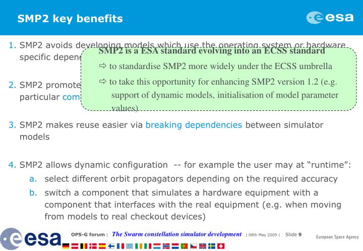 SMP2 key benefits