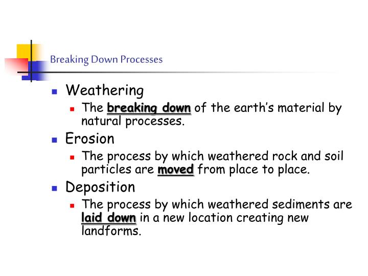 Breaking down processes